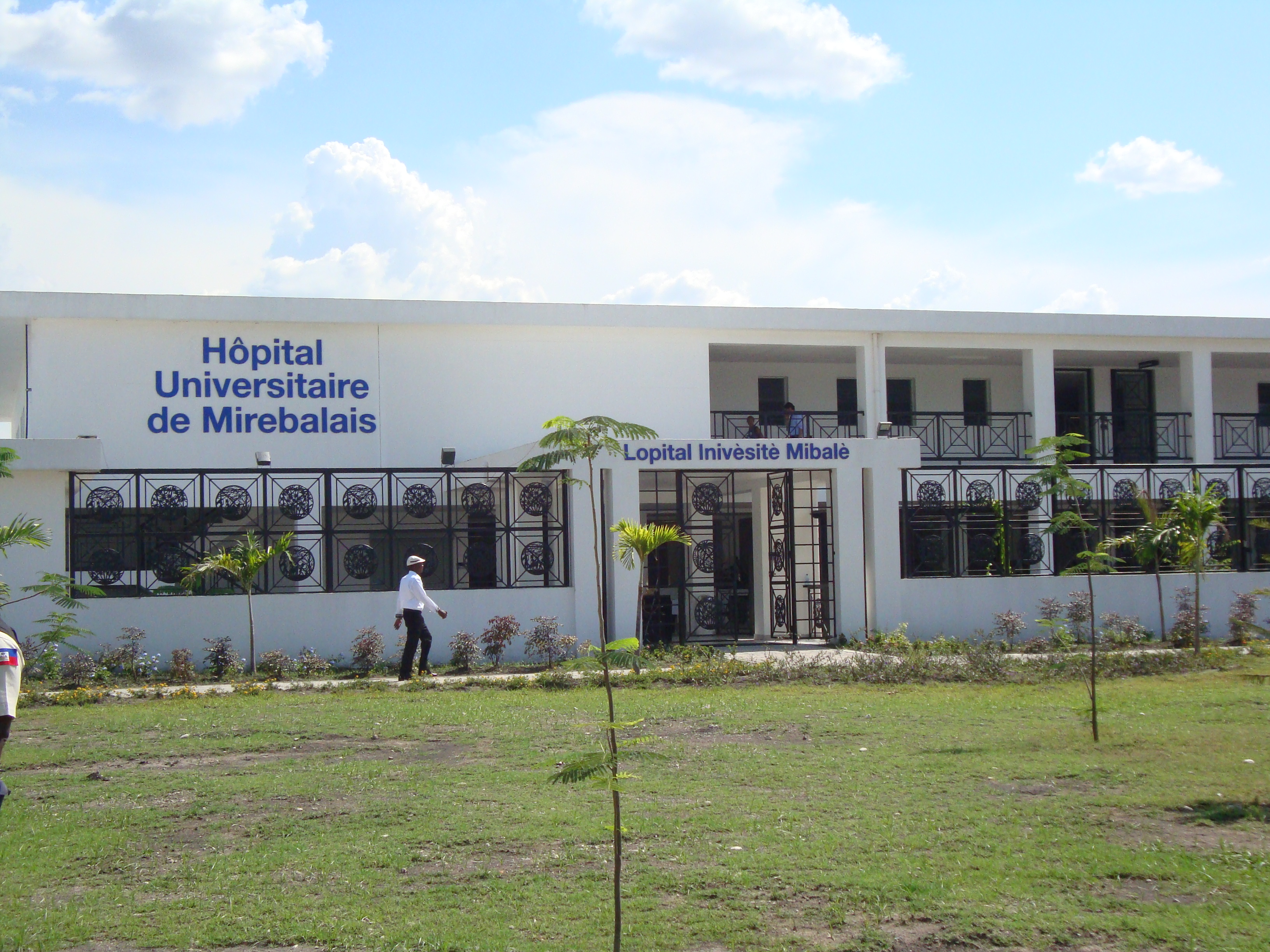The Hôpital Universitaire de Mirebalais was constructed from the ground up in a former rice field.