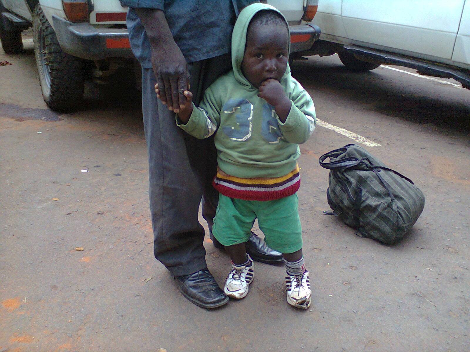 Africa burn relief_young boy walking